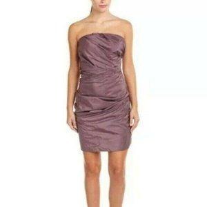 Leon Max Limited Edition Dress Purple Silk Sheath